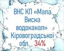 ВНС КП «Мала Виска водоканал»  Кіровоградської обл.   34%