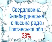 Свердловина Келебердинська сільська рада Полтавської обл. 38%