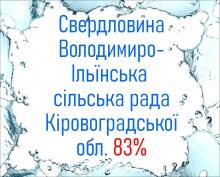 Свердловина Володимиро-Ільїнська сільська рада Кіровоградської обл. 83%