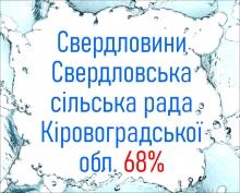 Свердловини Свердловська сільська рада Кіровоградської обл. 68%