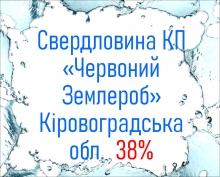 Свердловина КП «Червоний Землероб» Кіровоградська обл.  38%
