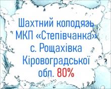 Шахтний колодязь МКП «Степівчанка» с. Рощахівка Кіровоградської обл. 80%